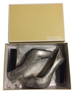 MICHAEL Michael Kors Gunmetal Pumps