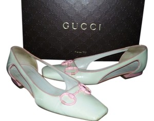 Gucci Made In Italy White and Pink Flats