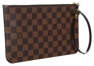 Louis Vuitton 2015 Damier Ebene MM GM Wrislet Pouch with DUSTBAG