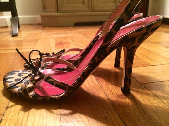 Kate Spade Satin Bow Strappy Leopard Sandals