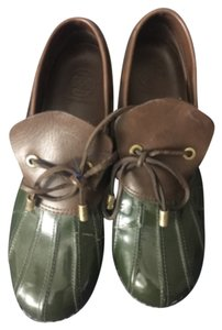 Tory Burch Green and Brown Flats