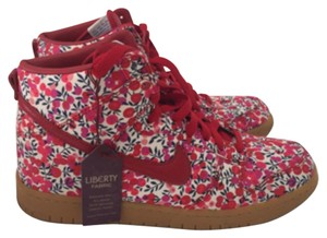 Nike Liberty Dunks High Tops Red Athletic
