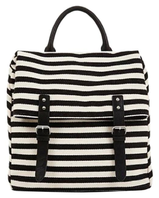 Item - The Drifter Black/White Stripe Canvas Backpack
