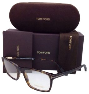 Tom Ford New TOM FORD Eyeglasses TF 5295 052 56-17 Matte & Shiny Tortoise Frame w/ Clear Lenses