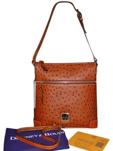 Dooney & Bourke Messenger Ostrich Emb Leather Cross Body Bag