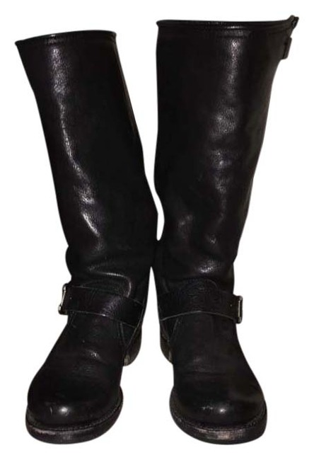 Item - Black Veronica Slouch Boots/Booties Size US 7.5 Wide (C, D)