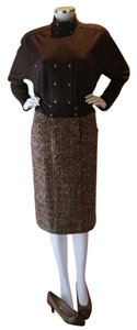 Chanel Vintage 80s Wool CHANEL 3pc Suit with Size 8 matching Chanel shoes