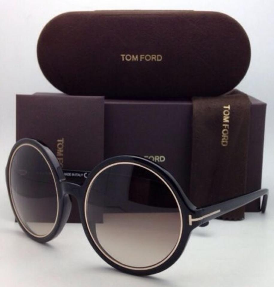 eeefca3bdf Tom Ford Carrie Tf 268 01f Black   Gold Frame W  Brown Gradient New 59-22  W Brown Lenses Sunglasses