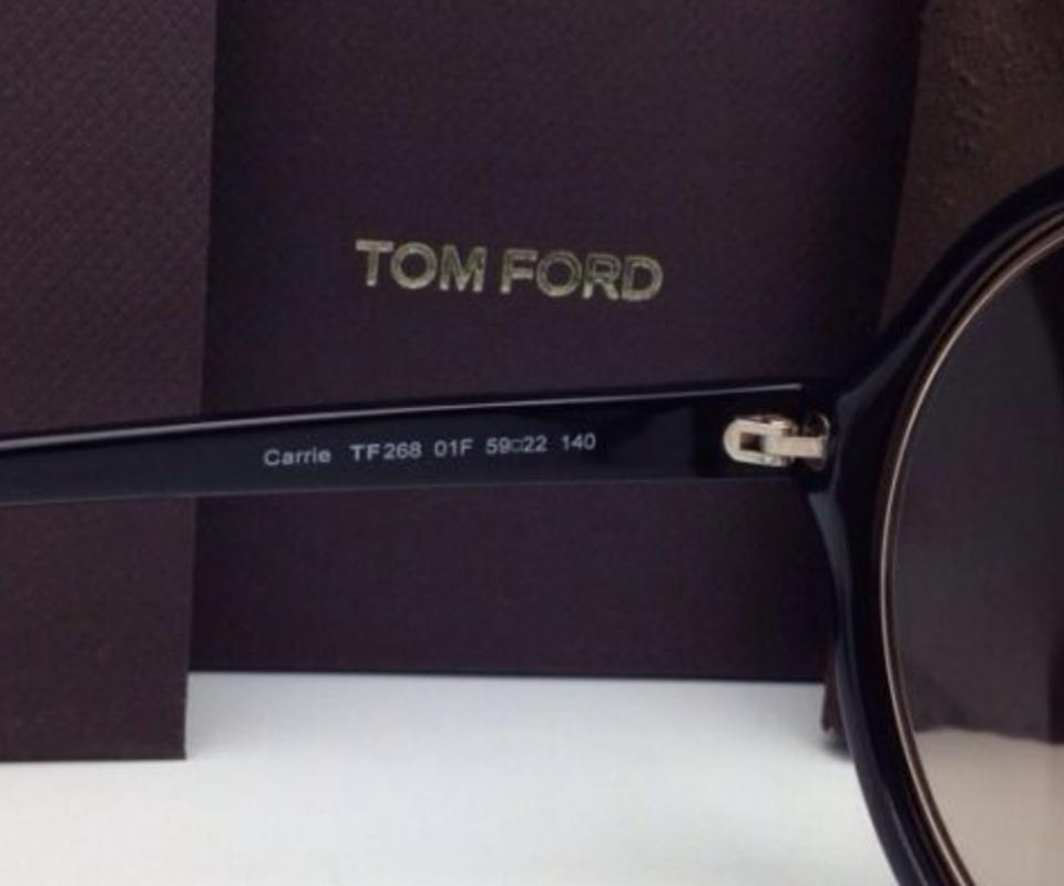 f65b53f502 Tom Ford Carrie Tf 268 01f Black   Gold Frame W  Brown Gradient New ...
