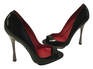 Charles Jourdan Metal Black Platforms