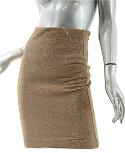 Byblos Tubular Skirt Gold Metallic