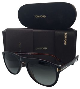 Tom Ford New TOM FORD Sunglasses KURT TF 347 01V 56-18 Black on Havana Frame w/ Grey Gradient Lenses