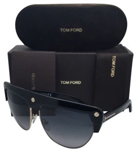 Tom Ford New TOM FORD Sunglasses LIANE TF 318 01B 62-14 Black & Gold Frames w/ Grey Gradient Lenses