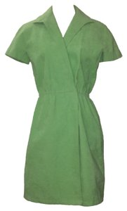 Halston short dress Green on Tradesy