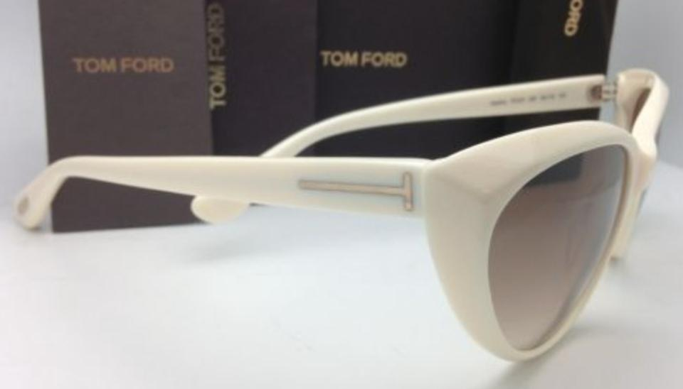 Tom Ford Martina Tf 231 25f Ivory White Frame W/ Brown Gradient New ...