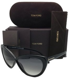 Tom Ford New TOM FORD Sunglasses MADISON TF 253 01B 63-10 Black Cat-Eye Frame w/Gray Gradient Lenses