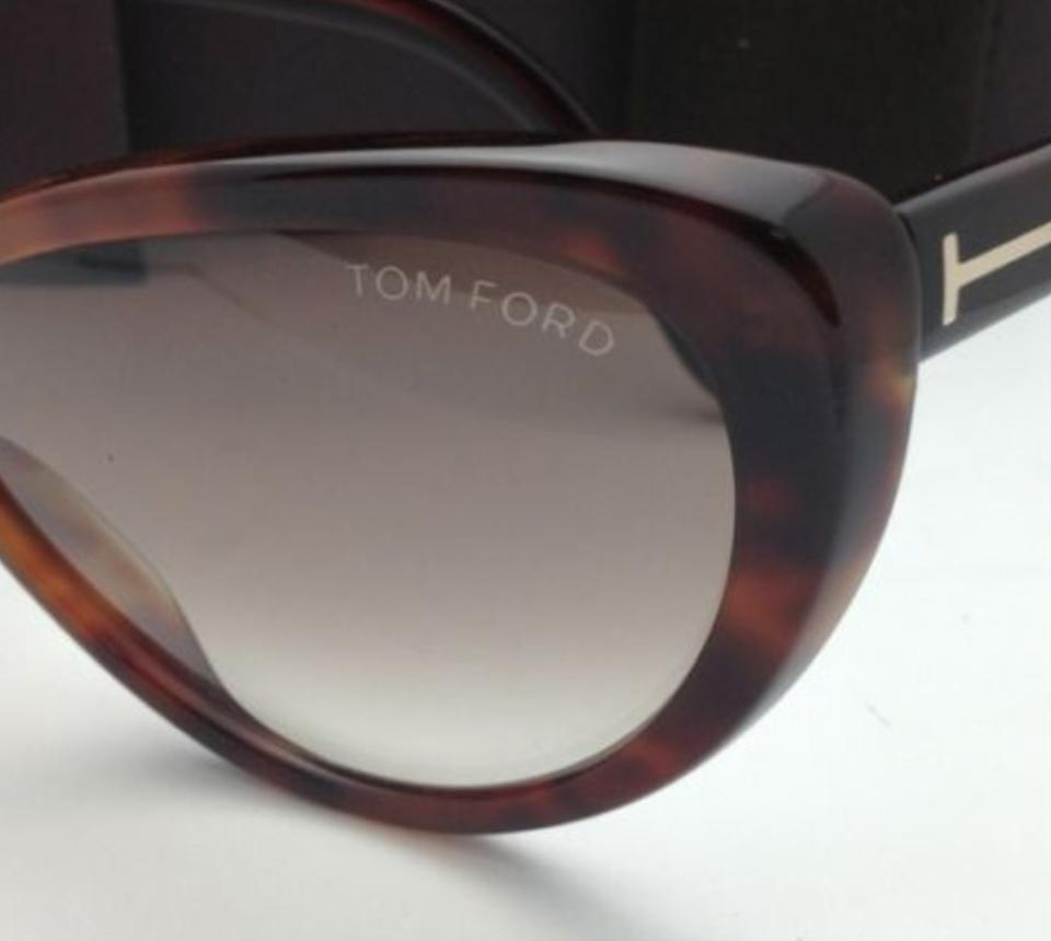 0753ad8c532d8 Tom Ford New TOM FORD Sunglasses MADISON TF 253 52F Havana Cat-Eye Frame w.  123456789101112