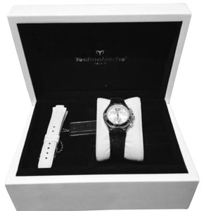 TechnoMarine TECHNOMARINE Neo Classic Stainless Watch w/ Black & White Croc Bands!