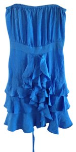 Rebecca Taylor short dress Blue Ruffle on Tradesy