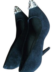 Obession Rules Leather Suede Black Pumps