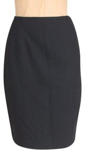 Ellen Tracy Wool Pencil Wear To Work Office Skirt BLACK