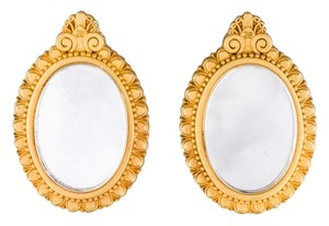 Karl Lagerfeld Karl Lagerfeld Gold Tone Mirror Earrings