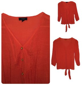 Modern Edge Button Down Shirt Orange