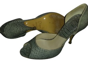 Dior Made In Italy Snakeskin Beige Pumps