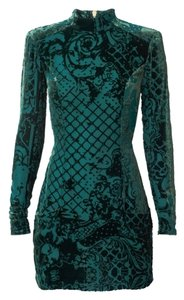 Balmain x H&M Silk Velvet Green Velvet Dress
