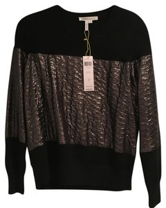 BCBGeneration Sexy Cool Trendy Hip Top Black and Iridescent