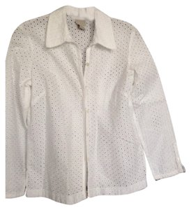 Sigrid Olsen Button Down Shirt white cotton