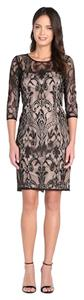 Adrianna Papell Evening Sheath 3/4 Sleeves Sleeves Knee Length Dress