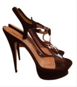 Yves Saint Laurent Naked Kiss 105 Tstrap Black / Purple Sandals