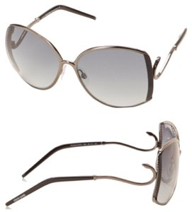 Roberto Cavalli NEW!! Roberto Cavalli Women's Rectangular Design Gunmetal Sunglasses