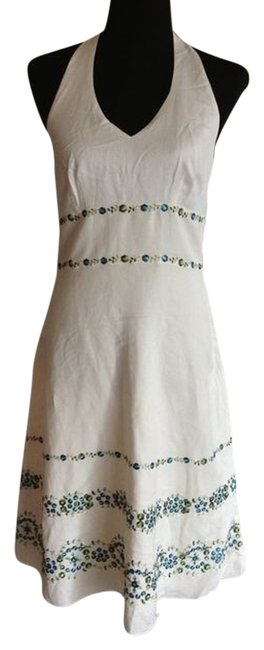 White Maxi Dress by Ann Taylor Halter Top