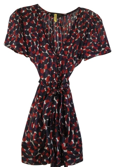 Preload https://item4.tradesy.com/images/bcbg-max-azria-top-red-cream-navy-and-purple-1065723-0-0.jpg?width=400&height=650