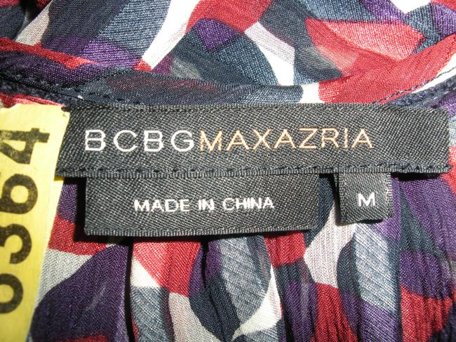 BCBGMAXAZRIA Top Red, cream, navy, and purple