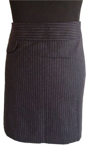 Banana Republic Pinstripe Mini Skirt Black