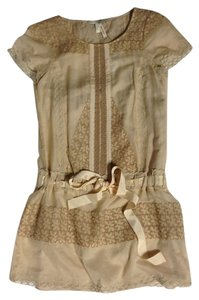 BCBGMAXAZRIA short dress Nude Tan Beige Camel Short Eyelet on Tradesy