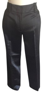 Ann Taylor Trouser Pants Black Satin