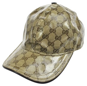 Gucci 100% Authentic GUCCI GG Pattern Cap Hat Beige #S Italy Cotton Vintage A19666
