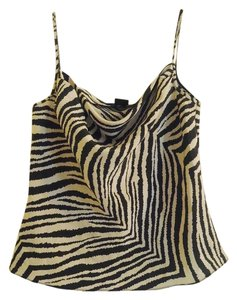 The Limited Silk Zebra Animal Print Top Black and White