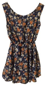 Other short dress Blue and Orange Floral on Tradesy