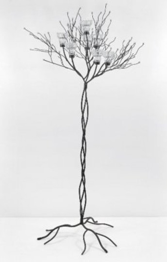 Brown/Black Iron Twig Tree Candle Holder Centerpiece