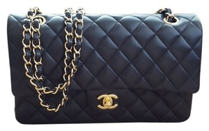 Chanel Lambskin Gold Hardware Flap Flap Lambskin Shoulder Bag