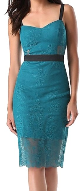 Item - Teal Green Lace Midi 258497 Mid-length Night Out Dress Size 2 (XS)