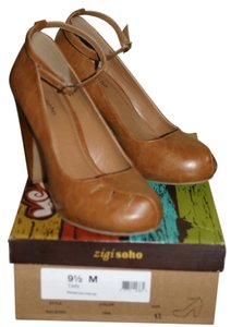 ZIGI NEW YORK Soho Tan Size 9.5 Cognac Platforms
