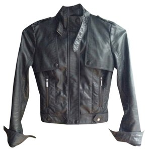 Zara Moto Faux Leather Motorcycle Jacket