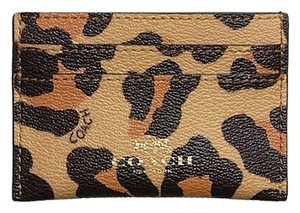 Coach Coach Ocelot Leather Wallet
