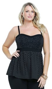 Torrid New W/ Tags Lace Front Top Black